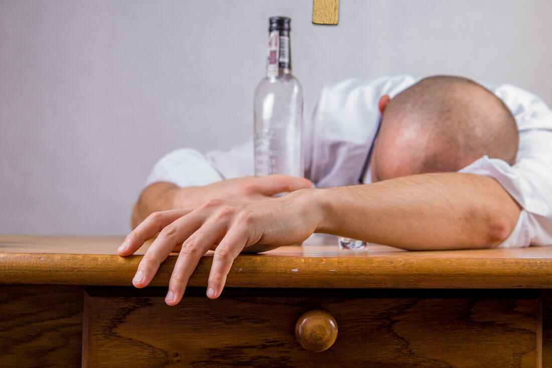 Man Too Drunk At Work Party