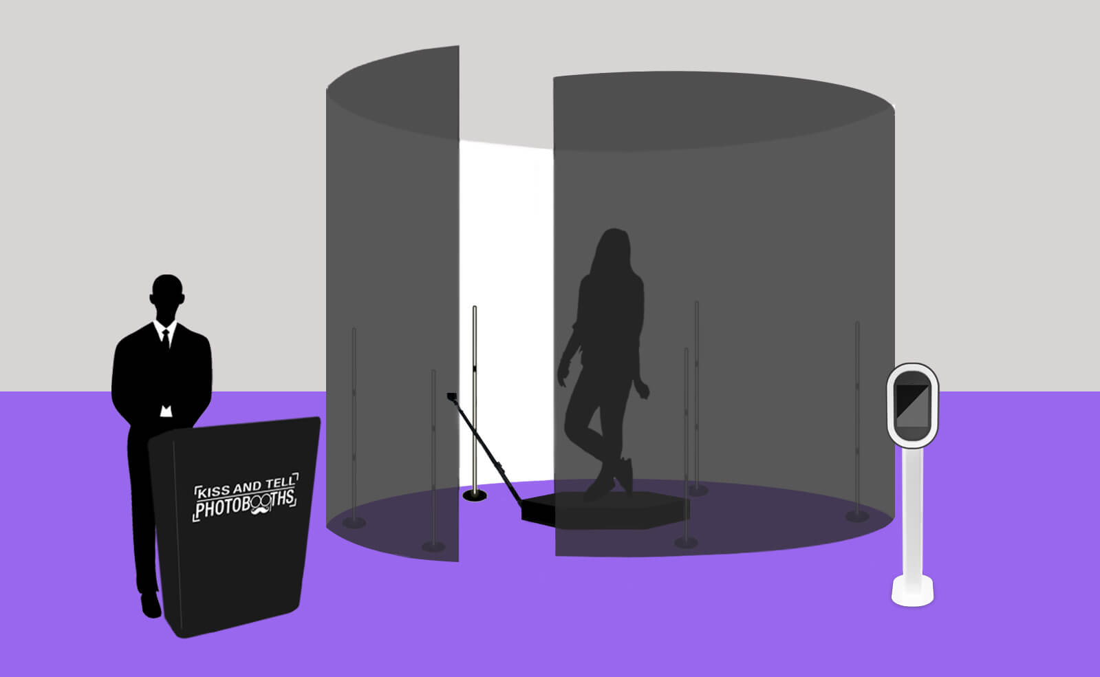 360 Booth Full Enclosure